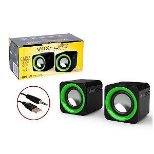 Caixa De Som Digital 2.0 Voxcube 8w Rms Infokit Vc-d300 -