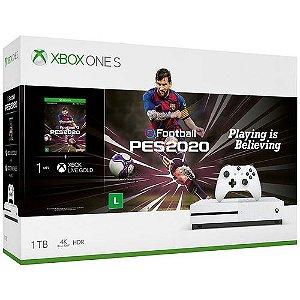 Xbox One S 1TB Branco com  PES 2020