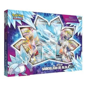 Box Pokémon Sandslash de Alola GX + Deck Box Ultra Pro 80 Cards