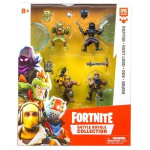 BONECO FORTNITE BUNDLE 4 MINI FIGURE