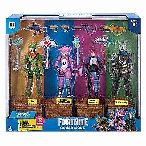 Bonecos Fortnite Pack Com 4 Figuras E Acessórios