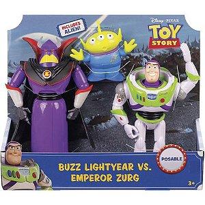 Boneco Toy Story 4 Pacote 2 Buzz e Zurg GJT94 - Mattel
