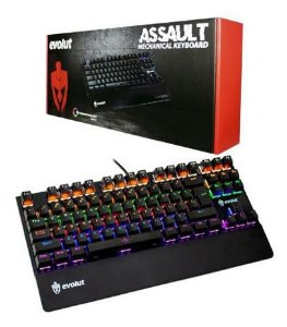 EVOLUT PRO ASSAULT TECLADO MECANICO SWITCH AZUL
