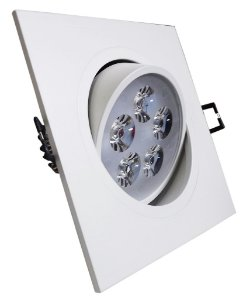 DOWNLIGHT LED 5W BR/BQ(QUADRADO)