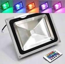 REFLETOR DE LED - 50W RGB (COLORIDO)