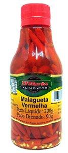 Pimenta Malagueta vermelha conserva 200 gr
