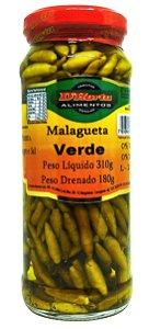Pimenta malagueta verde em conserva 310 gramas
