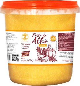 Pasta de Alho sem sal 200 gramas