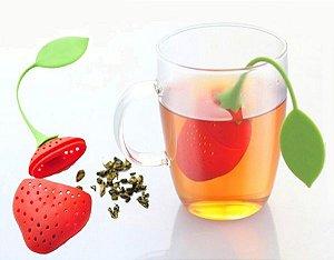 Infusor/coador de Chá Morango em Silicone