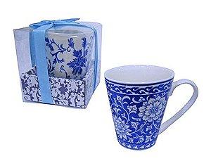 Caneca de Porcelana Flor 320 ml