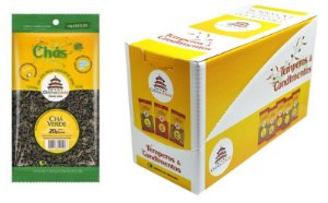 Chá Verde 20 gramas - 10 unidades na caixa display