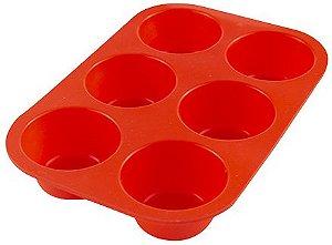 Forma Silicone Cupcake 6 cavidades 25 X 17CM