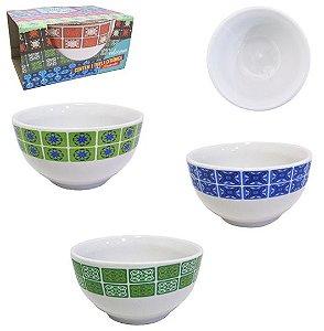 Tijela de Porcelana Redonda Bowl Azulejo 500 ml