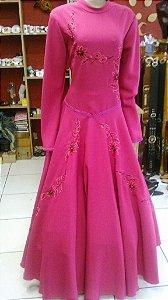 Vestido de Prenda Bordado Pink (38)