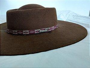 Chapéu de lã 56/57 Marrom