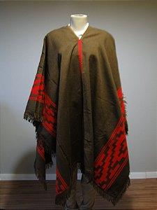 Poncho Argentino de Lã Batida