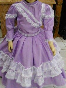 Vestido Infantil Lilás