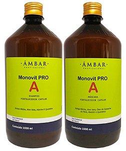 Kit Monovit Pro A 1Litro -Shampoo e máscara