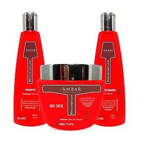 Kit Reconstruire Âmbar- Shampoo, máscara e condicionador