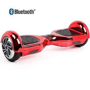 Hoverboard Skate Elétrico Smart Balance Wheel 6,5 Polegadas com Bluetooth - Vermelho Metálico