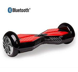Hoverboard Skate Elétrico Smart Balance Wheel 6,5 Polegadas com Bluetooth- Preto com Vermelho