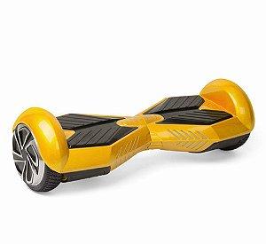 Hoverboard Skate Elétrico Smart Balance Wheel 6,5 Polegadas com Bluetooth - Dourado com Preto