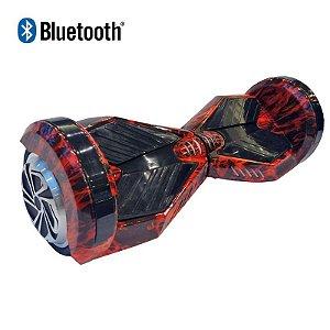 Hoverboard Skate Elétrico Smart Balance Wheel com Bluetooth 8 polegadas - Vermelho Fogo