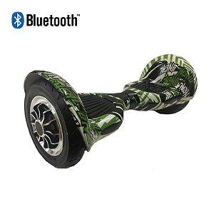 Hoverboard Skate Elétrico Smart Balance Wheel 10 Polegadas Bluetooth - Verde Colorido