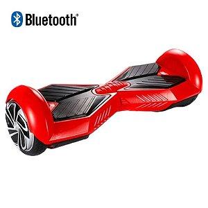 Hoverboard Skate Elétrico Smart Balance Wheel 6,5 Polegadas com Bluetooth - Vermelho com Preto