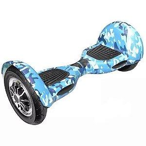 Hoverboard Skate Elétrico Smart Balance Wheel 10 Polegadas Bluetooth - Azul Colorido