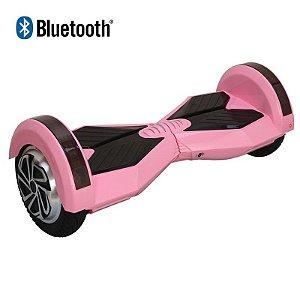 Hoverboard Skate Elétrico Smart Balance Wheel com Bluetooth 8 polegadas - Rosa com Preto