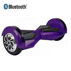 Hoverboard Skate Elétrico Smart Balance Wheel com Bluetooth 8 polegadas - Roxo com Preto