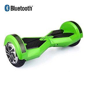 Hoverboard Skate Elétrico Smart Balance Wheel com Bluetooth 8 polegadas - Verde com Preto