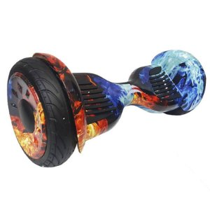 Hoverboard Skate Elétrico Smart Balance Wheel 10 Polegadas Bluetooth - Fogo Gelo
