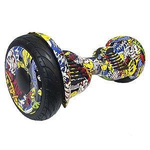 Hoverboard Skate Elétrico Smart Balance Wheel 10 Polegadas Bluetooth - Amarelo Colorido