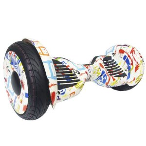Hoverboard Skate Elétrico Smart Balance Wheel 10 Polegadas Bluetooth - Branco Colorido