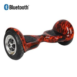 Hoverboard Skate Elétrico Smart Balance Wheel 10 Polegadas Bluetooth - Vermelho Fogo