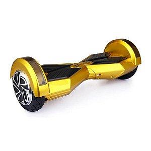 Hoverboard Skate Elétrico Smart Balance Wheel com Bluetooth 8 polegadas - Dourado com Preto