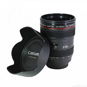 Copo lente fotográfica