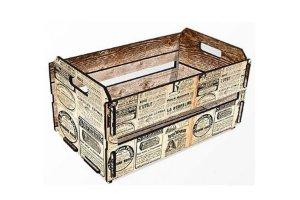 Mini caixote jornal frânces