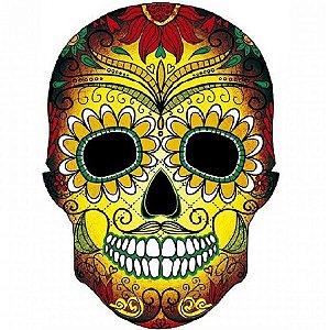 Porta chaves caveira mexicana amarela