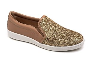 Slip On Marina Mello - Gliter Ouro