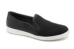 C12017 - Slip On Marina Mello - Preto | Laser Chile