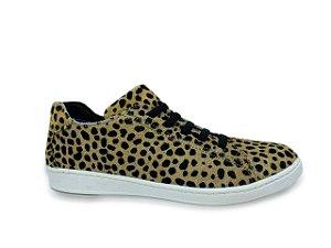 C12031 - Tênis Marina Mello - Cheetah Bege