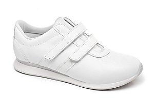 C10046 - Tênis Marina Mello - Branco | Verniz Branco | Velcro