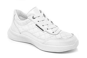C30003 - Tênis Marina Mello - Branco | Verniz Branco | Matelasse