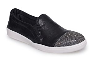 Slip On Marina Mello - Lumina Preto/Strass