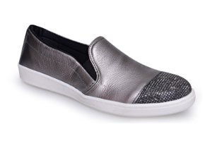 Slip On Marina Mello - Lumina Onix/Strass