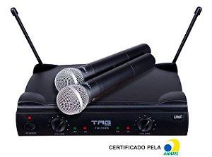 Microfone Sem Fio Duplo UHF TAGSOUND TM559B
