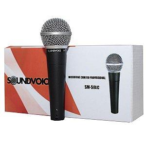 Microfone Com Fio SoundVoice SM58LC
